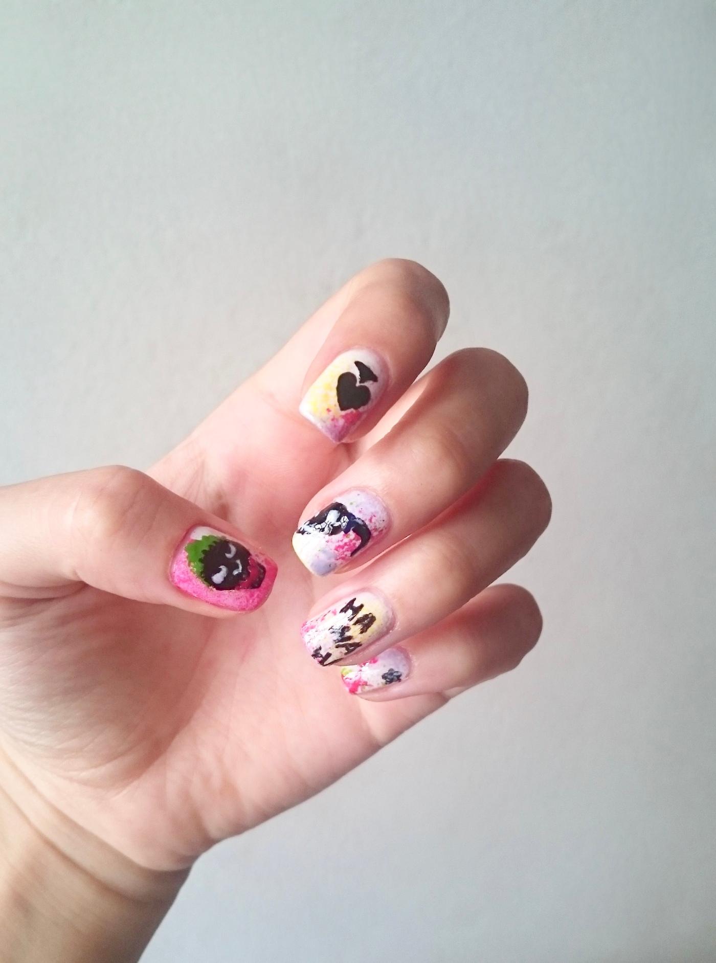 Suicide Squad nail art – aminafied.com